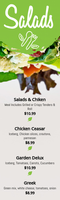 Salads Menu Template