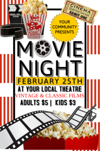 movie night flyer template movie similar design templates