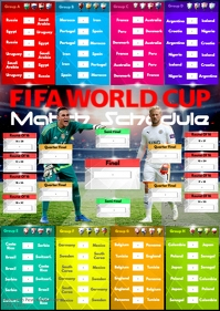 A2 FIFA World Cup 2018 Match Schedule