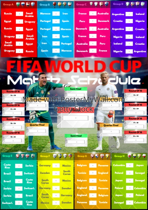 A2 FIFA World Cup 2018 Match Schedule