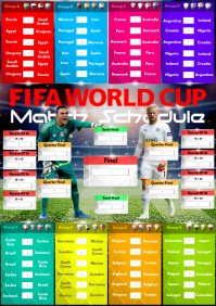A2 FIFA World Cup Match Schedule template
