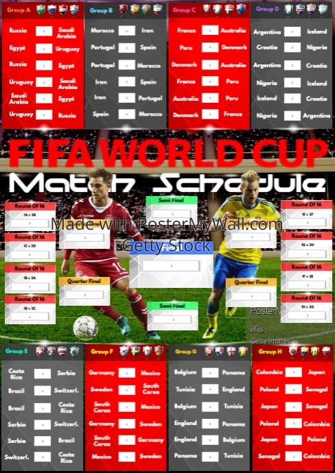 a2 russia 2018 match schedule template postermywall