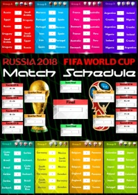 A2 Russia 2018 Match Schedule template