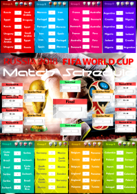 A2 Russia 2018 Match Schedule