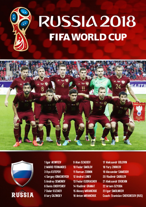 A2 Russia squad Poster