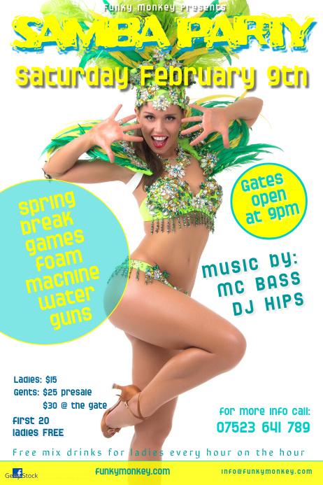 samba party poster
