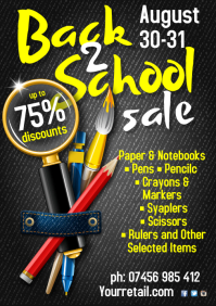 A3 Back 2 School Sale Poster