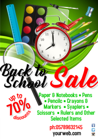 A3 Back To School Sale Template