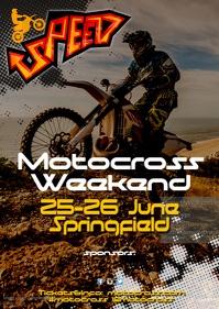 A3 Motocross Poster