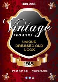 A3 Vintage Special Poster Template