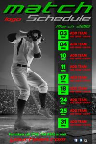 A4 Baseball Match Schedule