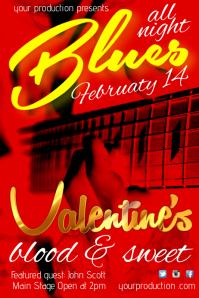 A4 Blues Concert Poster