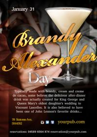 A4 Brandy Alexander Poster template