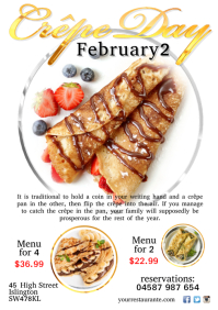 A4 Crepe Day Poster template