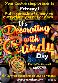 A4 Decorating with candy poster