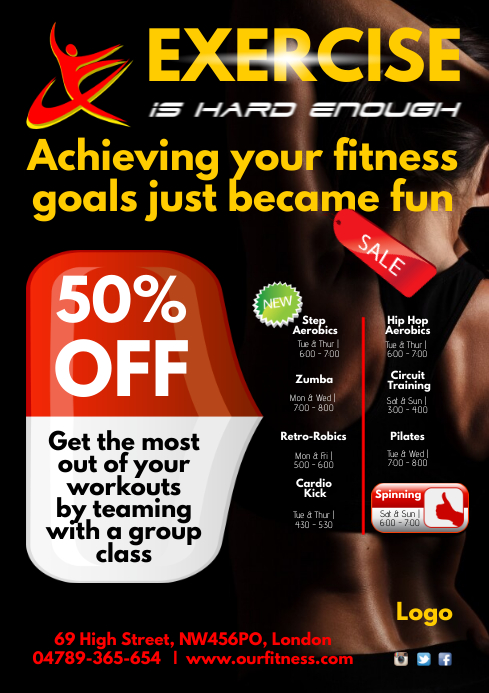 A4 Fitness Centre Poster