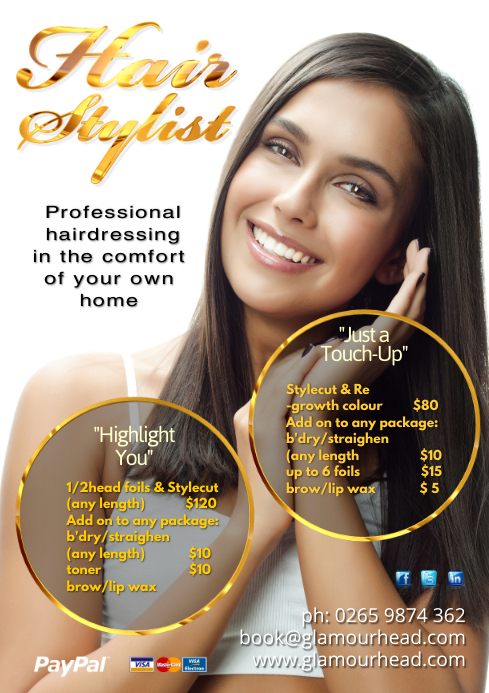 A4 Hair Stylist Poster
