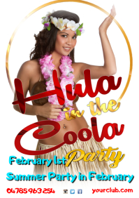 A4 Hula in the Coola Poster