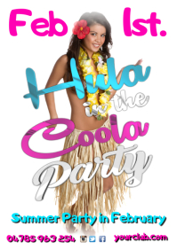 A4 Hula In The Coola Party poster