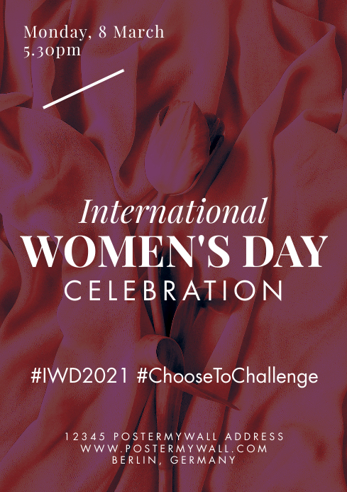 A4 International Women's Day Celebration template