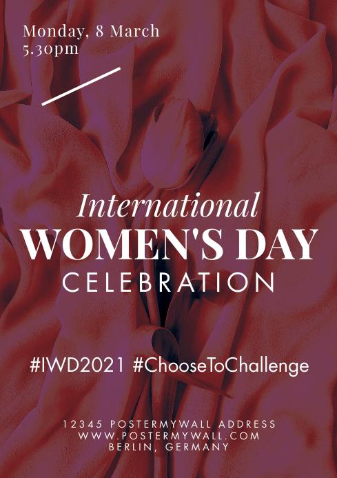 A4 International Women's Day Celebration template