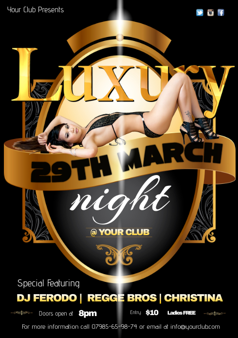 A4 Luxury Night Poster