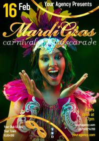 A4 Mardi Gras Poster