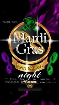 A4 Mardi Gras Poster Цифровой дисплей (9 : 16) template