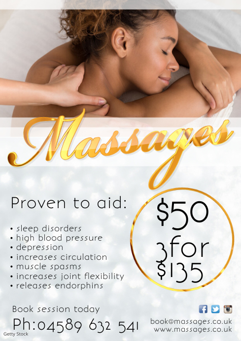 A4 Massages Poster
