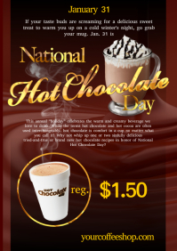 A4 National Hot Chocolate poster