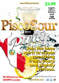 A4 Pisco Sour Poster