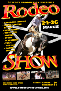 A4 Rodeo Poster Template