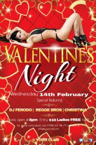 A4 Valentine's Night Poster