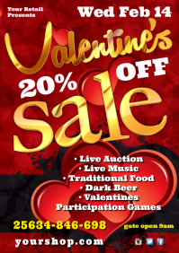 A4 Valentine's Sale Flyer