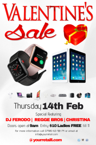 A4 Valentines sale Poster