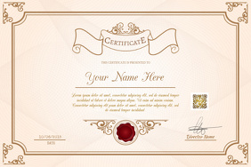 Printable certificates template - For students, schools and employees - Easy to edit - PosterMyWall