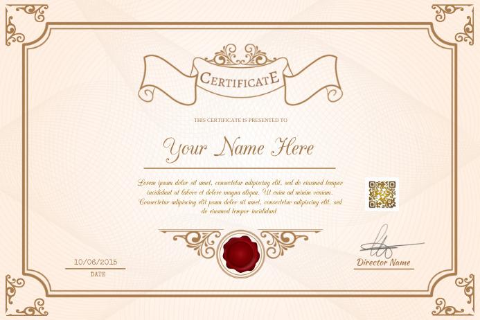 photograph regarding Printable Diploma Template titled Printable certificates template - For pupils, universities and