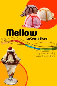 Ice cream store flyer