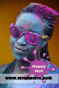 Happy Holi Template