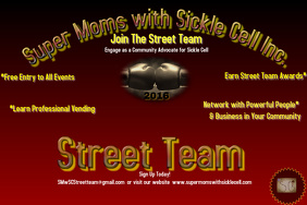 Super Moms with Sickle Cell Street Team