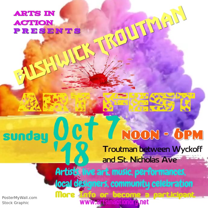 Bushwick Troutman Art Fest Invite