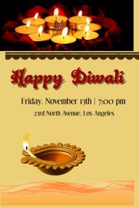 Diwali celebration Poster template