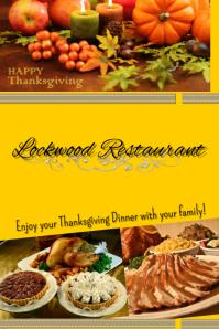 Thanksgiving at a restaurant
