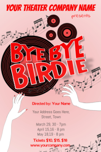 Bye Bye Birdie Theater Poster Template