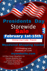 Presidents Day Storewide Sales Event Template