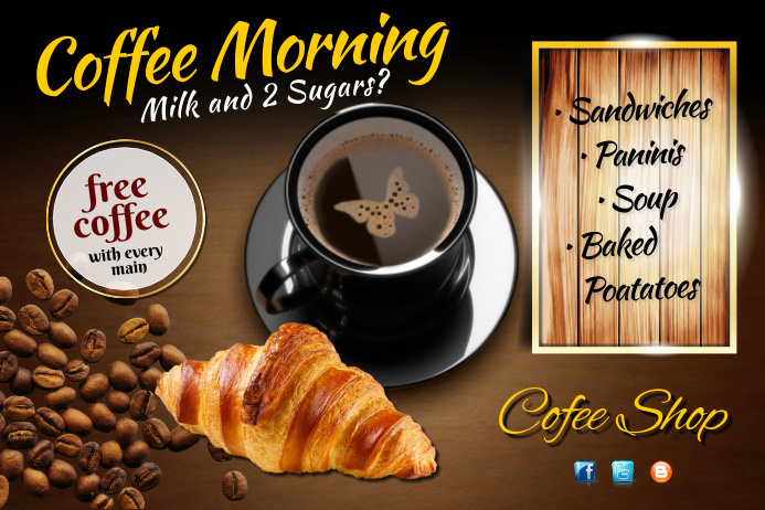 Coffee Morning Poster Template