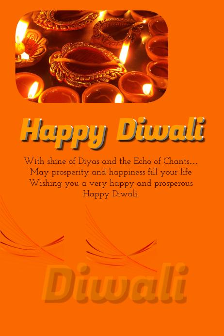 Diwali card Poster template