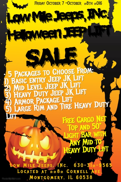 Halloween Party Packages.Copy Of Halloween Party Poster Postermywall