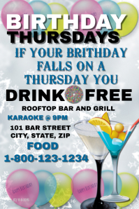 Birthday Thursday Bar Event Template