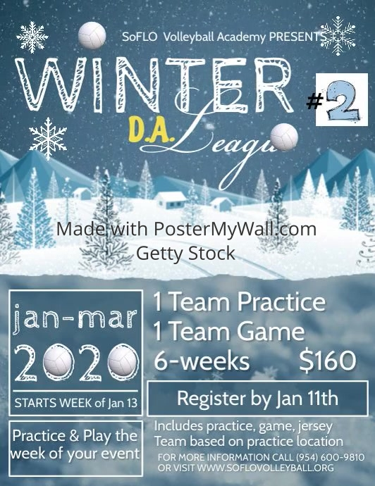 Winter Flyer (US Letter) template